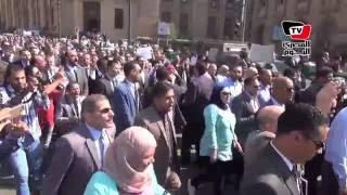 مسيرة حاشدة  أمام دار القضاء لـ«المحامين» لرفض «القيمة المضافة»