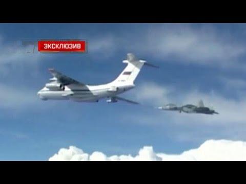 Опубликовано видео дозаправки Т-50 в воздухе