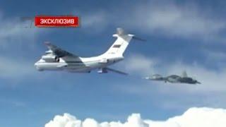 ПАК ФА Т 50 заправляется в воздухе  эксклюзивные кадры