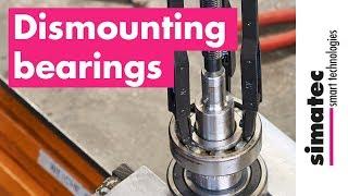 Dismounting / removing bearings with simatool Ball Bearing Puller BP61