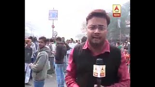 Jorabagan BJP-TMC Clash, Roads near central Avenue are blocked, heavy police force in the