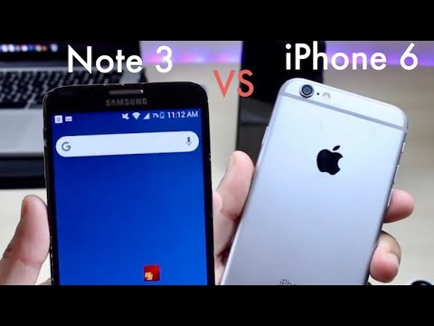iPhone 6 Vs Samsung Galaxy Note 3 In 2018! (Comparison) (Review)