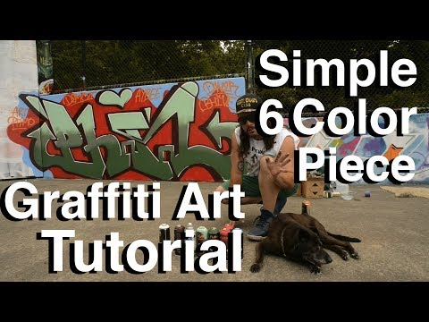ArtPrimo.com Easy Simple Six Color Graffiti Piecing Tutorial