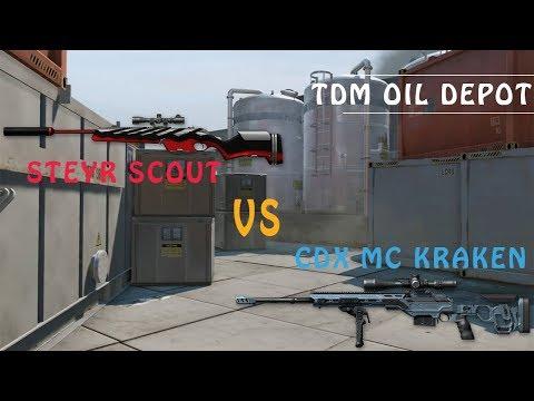 Warcface Steyr scout VS CDX MC Kraken~~ Tdm Oil Depot Gameplay