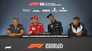 2018 Austrian Grand Prix   Pre-Race Press Conference