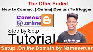 How to Connect (.Online) Domain To Blogger by Namserver