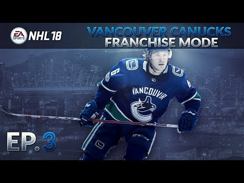 NHL 18 Franchise Mode Vancouver Canucks | EP 3 | Resign phase, Free Agency + 2nd Year Sim