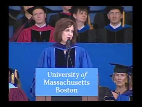 Victoria Reggie Kennedy delivers keynote speech at UMass Boston 2010 Commencement