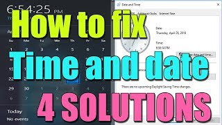 How to fix time and date on computer permanently in windows 10/8/7 I 4 SOLUTIONS 2018