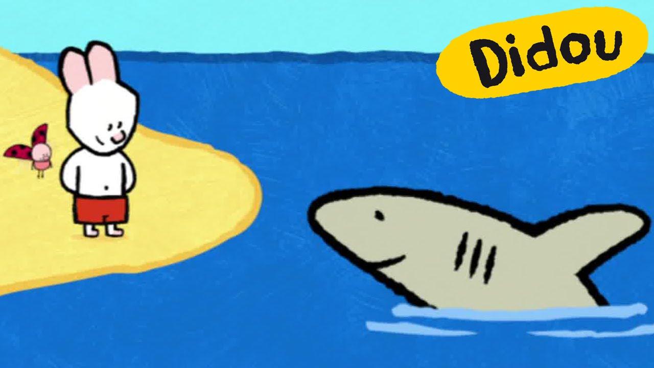 Requin didou dessine moi un requin dessins anim s pour les enfants youtube - Requin en dessin ...