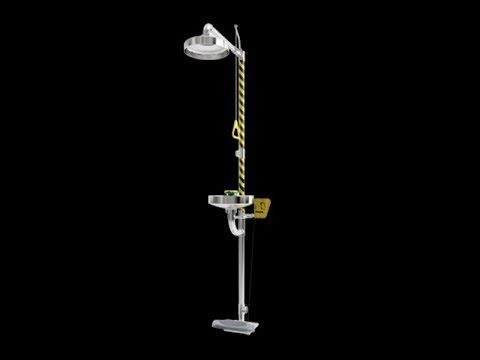 Euronics ESC-01S Combination Emergency Shower & Eye Wash Station