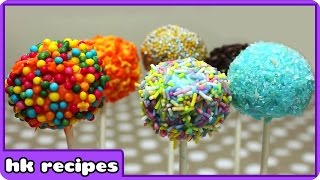 Colorful Cake Pops Recipe | DIY Quick And Easy Recipes : Fun Food For Kids By HooplaKidz Recipes