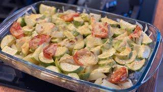 Рецепт в духовке Ужин за 15 минут овощи с мясом под сыром час на запекание