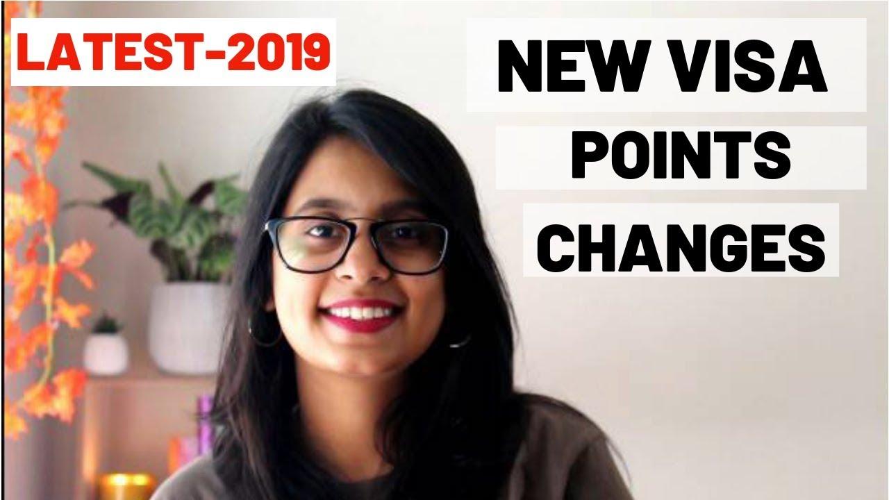 LATEST CHANGES TO VISA POINTS SYSTEM -AUSTRALIA 2019
