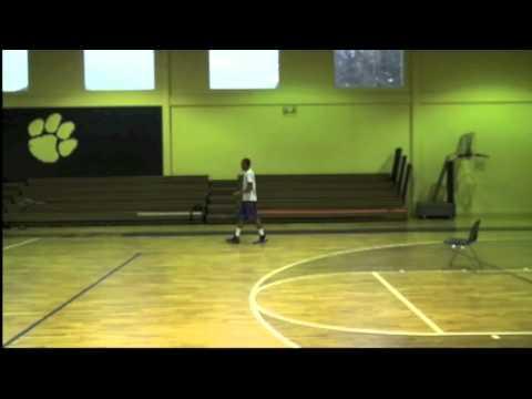 Jabari Evans of Brainerd High School Chattanooga, Tenn ball handling with Coach Paul Belcher