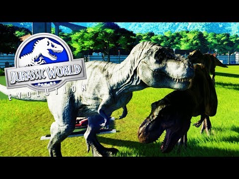 LA FAMILIA TIRANOSAURUS REX! CUATRO REX 1 RECINTO DE DINOSAURIOS JURASSIC WORLD EVOLUTION