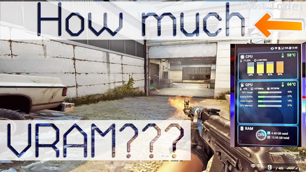 How much VRAM does CSGO actually consumes?! CPU more important than GPU