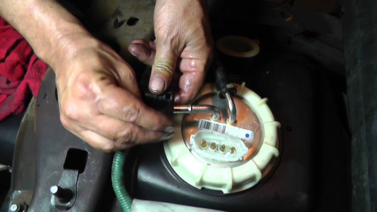 Ford ranger fuel gauge diagnosis part 10 sending unit fuel pump install youtube