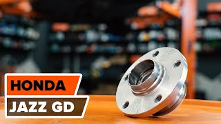 rear and front Wheel bearing kit installation HONDA JAZZ: video manual