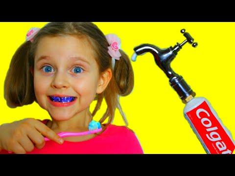София и Богдан Истории про Вредные сладости и Примеры правильного поведения для детей to brush teeth
