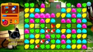 Lets play Meow match level 191 HARD LEVEL HD 1080P