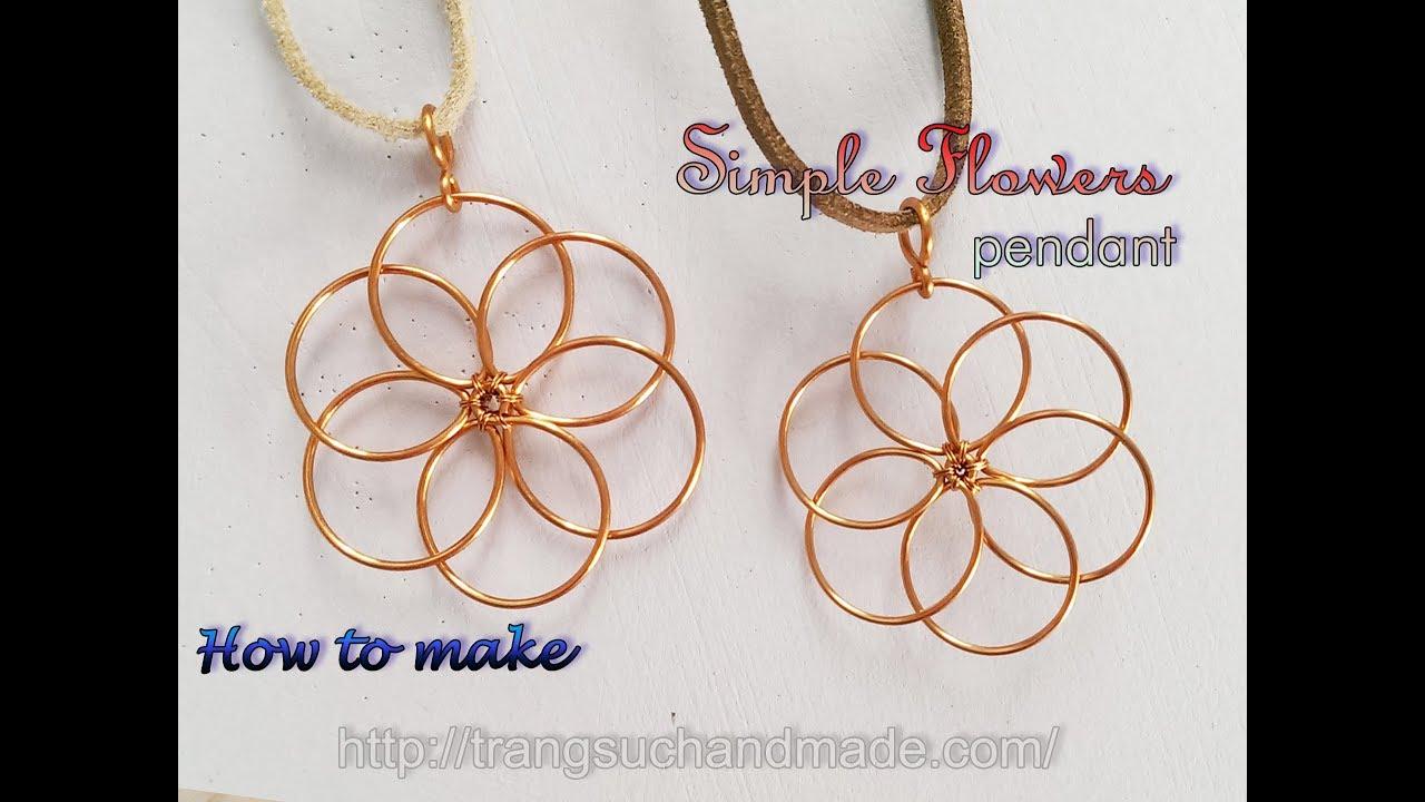 Flower Pendant Nature Jewelry Set Easy Jewelry Making