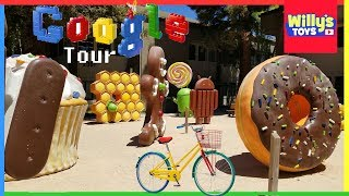 Google Store and Android Lawn Statues Park Tour - Google Cubebot Robot Blind Box Surprise Toys