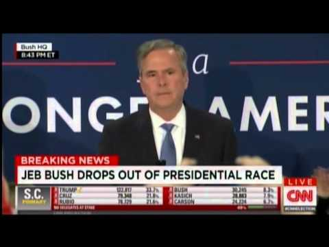 Jeb Bush Suspends Campaign 2016 2 20