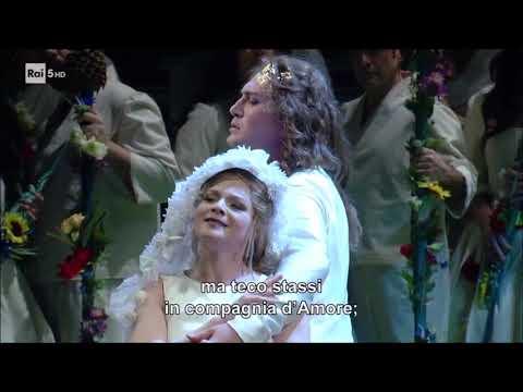 Monteverdi, L'Orfeo, atto primo, scena di Orfeo e Euridice