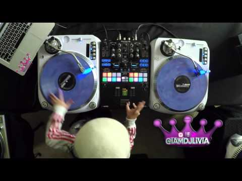 Worlds Youngest DJ DJ Livia tributes to Trinere V. Farrington