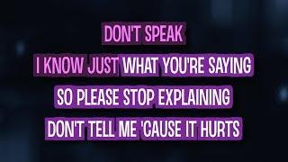 Don't Speak (Karaoke Version) - No Doubt | TracksPlanet