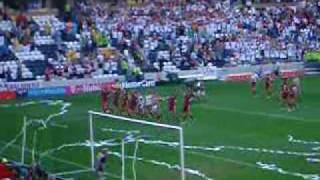 Euro 2004 Germany v Latvia - Latvian celebrations!