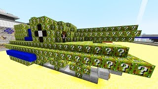 lucky camo blocks epic tank mod challenge minecraft modded mini game