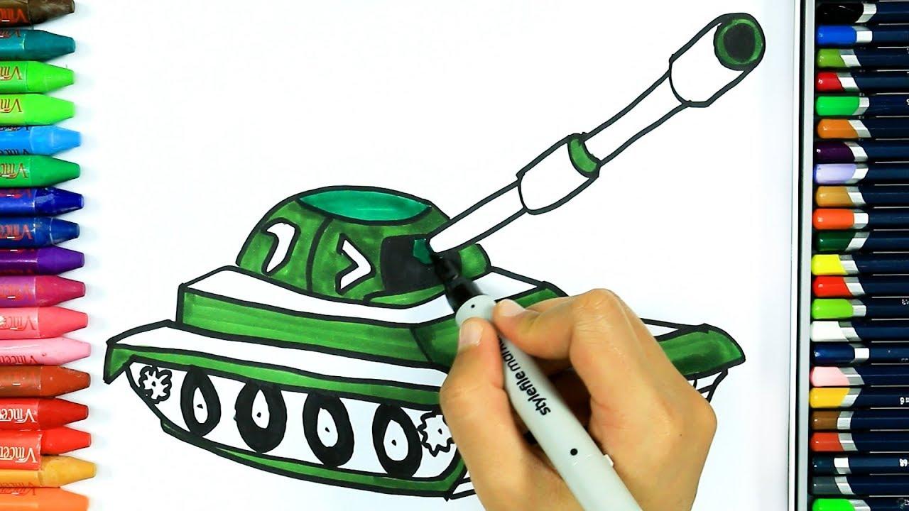 Tank Nasıl çizilir Boya Boya çizelim Boyayalım çocuklar Için