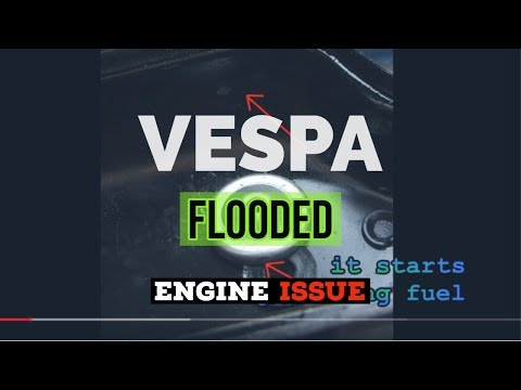 vespa SI24 WARM START - FLOODED ENGINE issue - carb lid prob