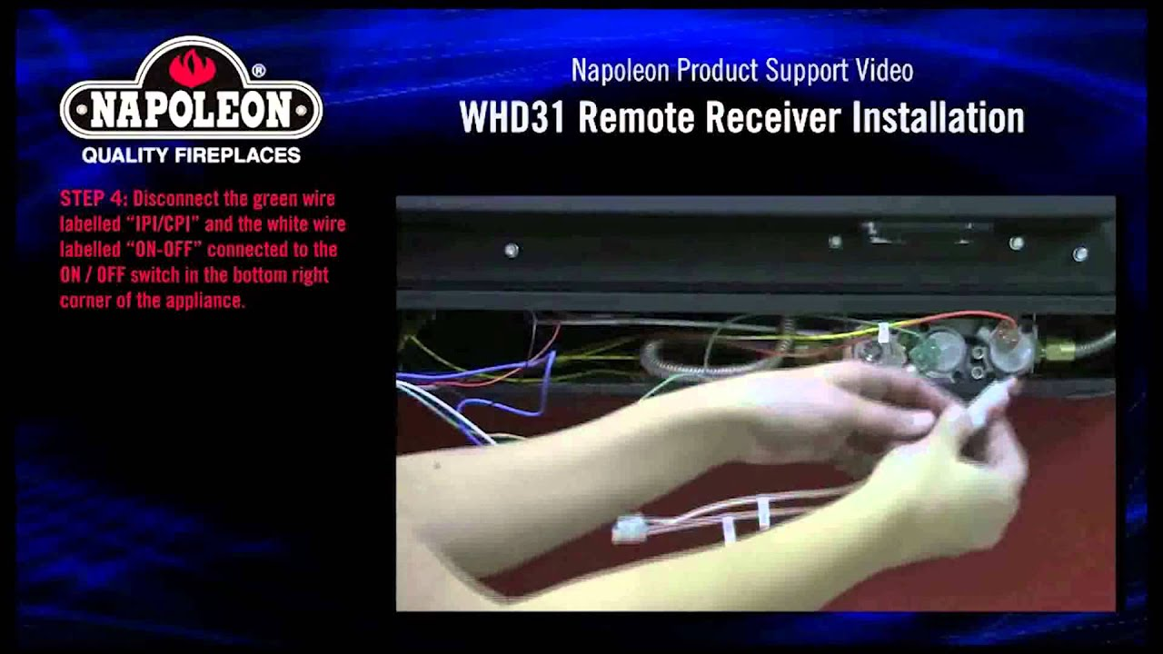 napoleon whd31 whvf31 remote receiver installation tutorial youtube
