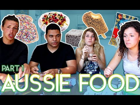 Americans & A Swede Trying Aussie Food Pt. 1