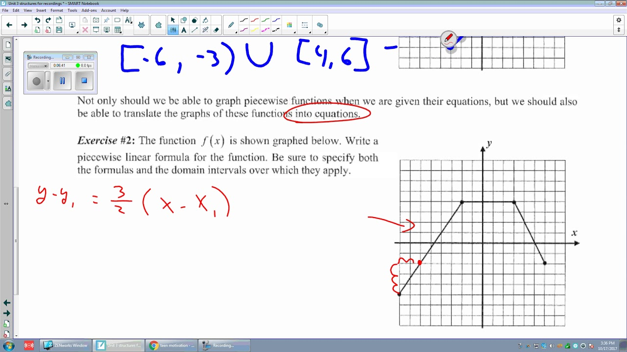 Unit 3 lesson 6 part 1 piece wise graphing and finding the equation unit 3 lesson 6 part 1 piece wise graphing and finding the equation in point slope form falaconquin
