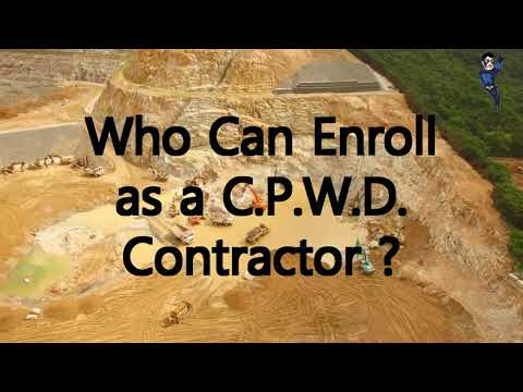 C.P.W.D. Contractor Registration for Contractor Licence