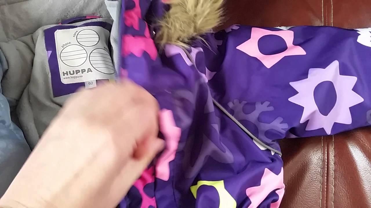 Huppa, теплое пальто для девочек Yacaranda арт. 12030030 - YouTube