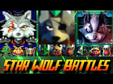 Evolution of Star Wolf Battles in Star Fox Games (1993-2016)