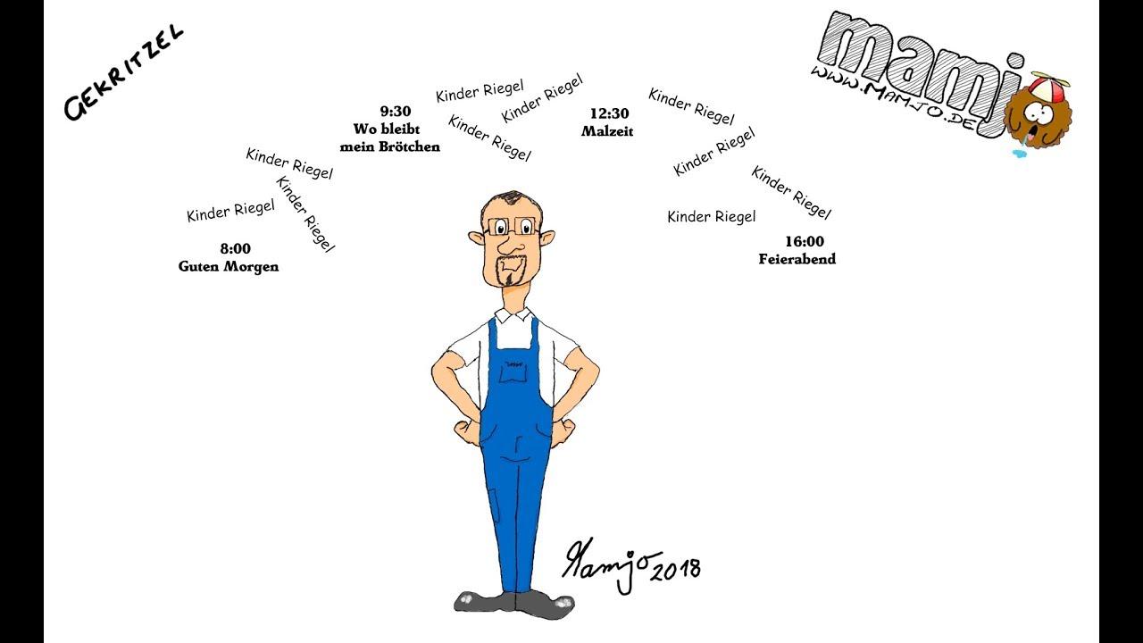 297 Zeichne Eine Comic Figur Handwerker Bauarbeiter Cartoon Tutorial