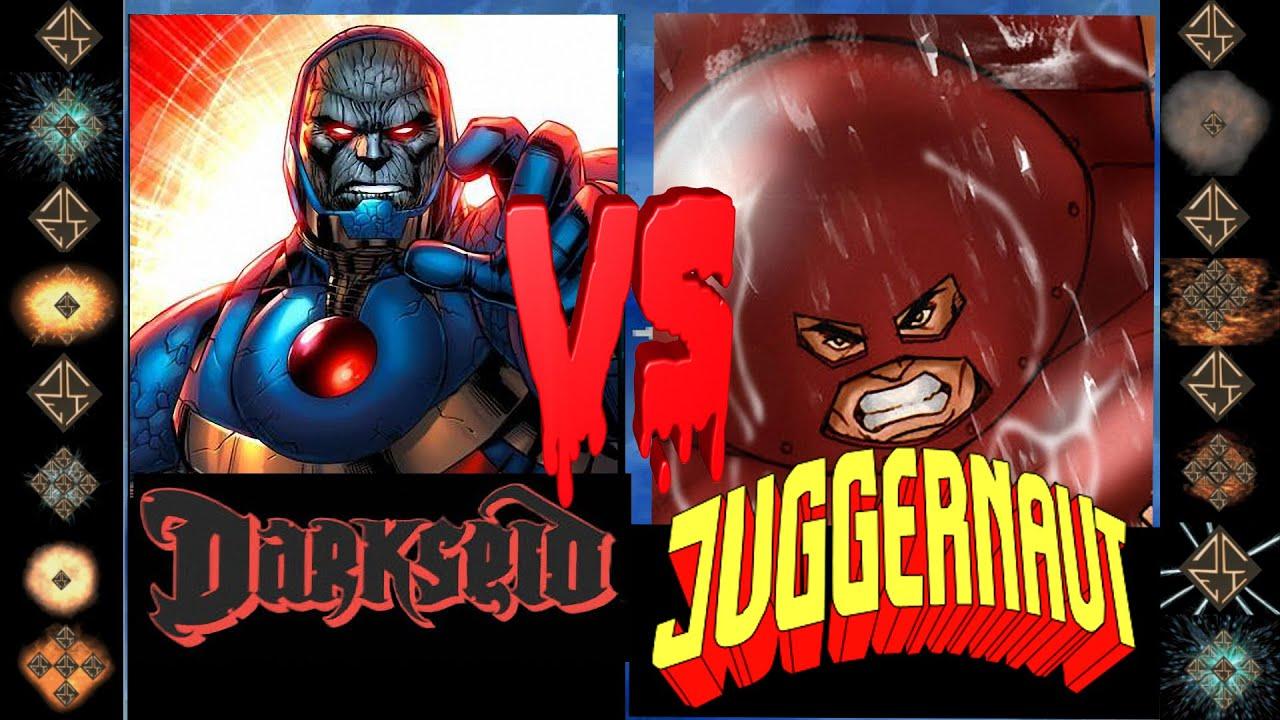 Darkseid (DC Comics) vs Juggernaut (Marvel Comics) - Ultimate Mugen Fight  2016