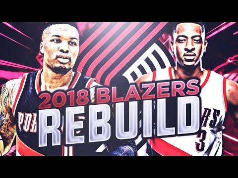 KEVIN DURANT TO PORTLAND!? 2018 TRAILBLAZERS REBUILD! NBA 2K17