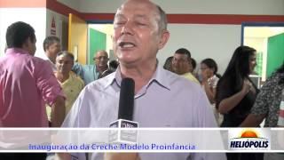 Entrevista Deputado José Nunes na inauguração da Creche em Heliópolis-Ba.