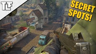 7 More Call of Duty: WWII Secret Spots and Out of Map Glitches *AFTER PATCH* (COD WW2 Strafe Jumps)