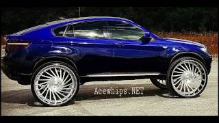 AceWhips.NET- Candy Blue-Fade BMW X6 on Brushed 32