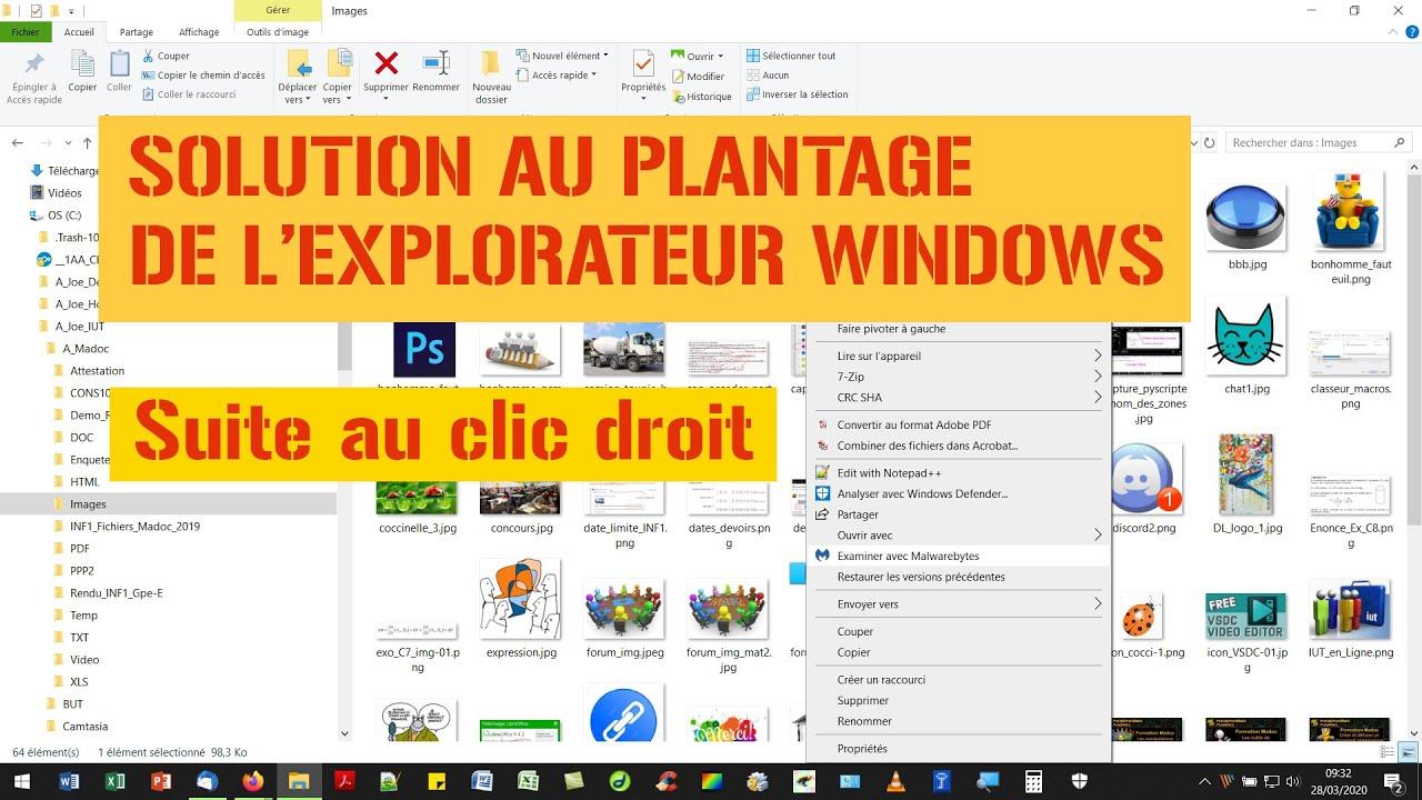 Solution au plantage de l'Explorateur Windows