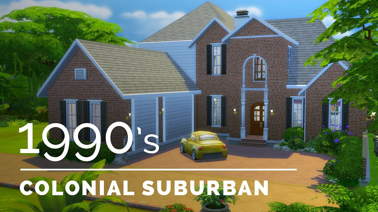 Sims 4 Decade Build Series 1990s Colonial Suburban