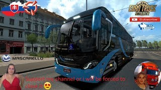 Euro Truck Simulator 2 (1.36)   Bus Mercedes-Benz Mascarello Roma R8 4X2/6X2 V1.1 SVK Map by KimiSlimi V.22 + DLC's & Mods  Support me please thanks Support me economically at the mail vanelli.isabella@gmail.com  Roadhunter Trailers Heavy Cargo  http://ro